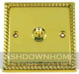 Monarch Roped Polished Brass Toggle Light Switches